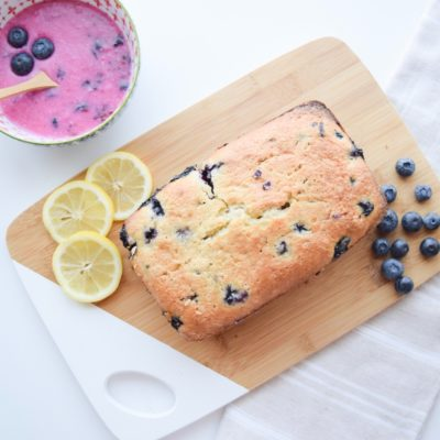 Blueberry Lemon Loaf & Glaze